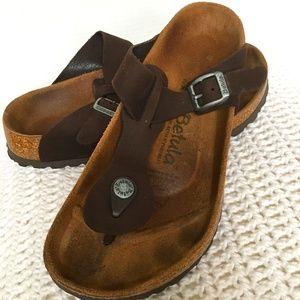 Betula Birkenstock Gizeh Thong Sandals Sz 6 Brown